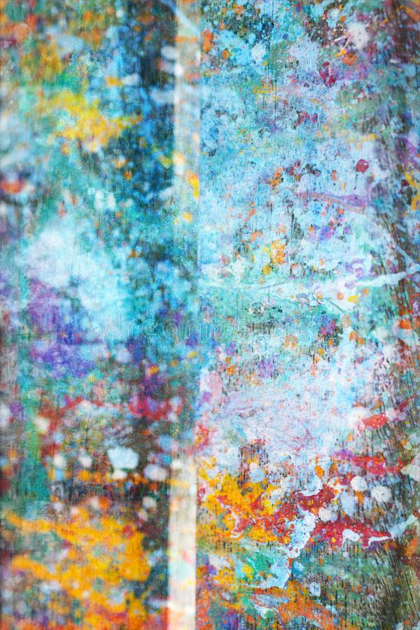 Estratto, fondo di legno variopinto dipinto a mano immagini stock libere da diritti