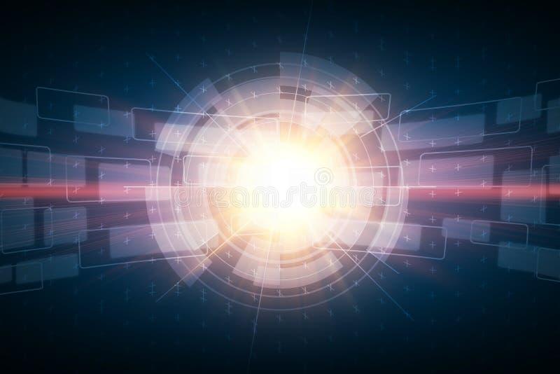 Estratto futuristico dell'illustrazione del canale di media per fondo illustrazione vettoriale