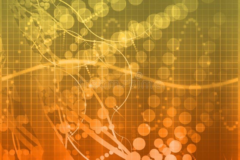 Estratto futuristico di tecnologia di scienza medica illustrazione di stock