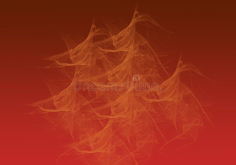 Estratto giallo del fumo sul fondo di pendenza di Brown immagini stock