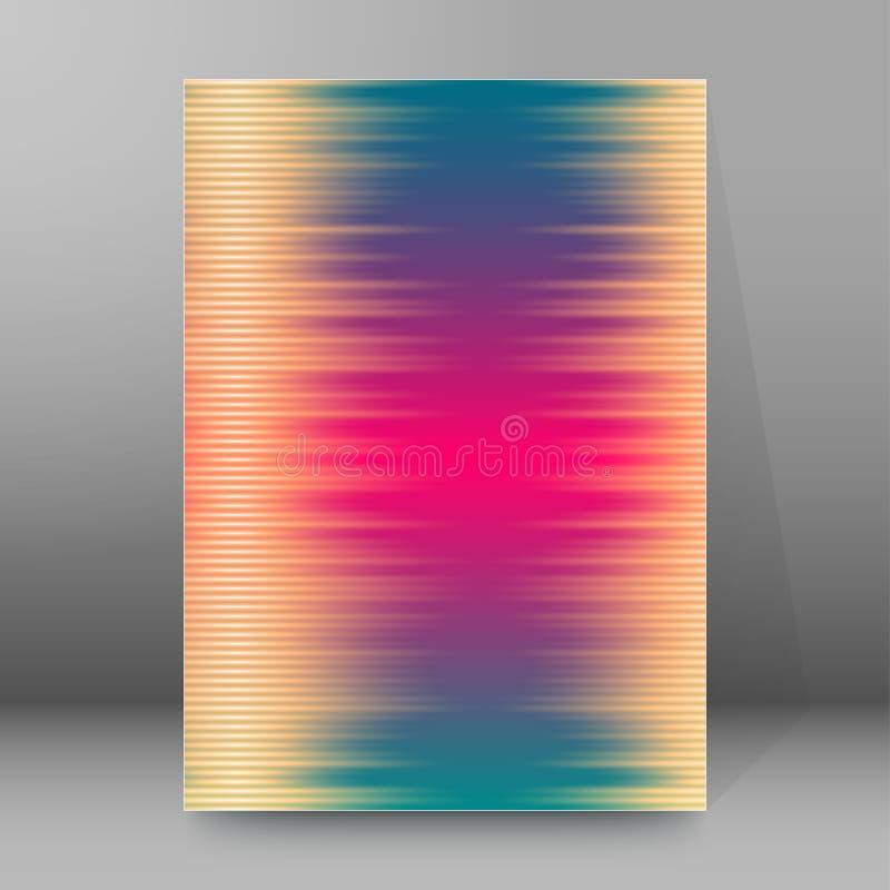 Estratto glow77 di stile delle copertine A4 dell'opuscolo rapporto di fondo illustrazione vettoriale