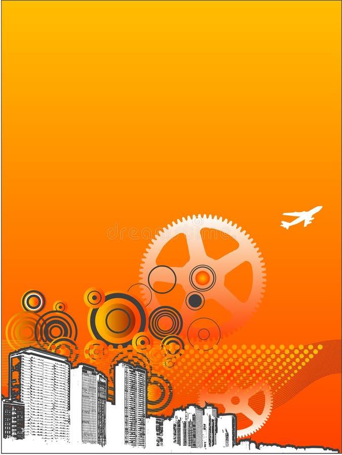 Estratto industriale caldo della città illustrazione vettoriale