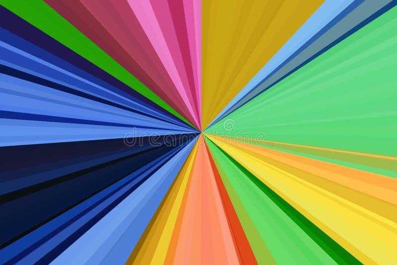 Estratto leggero variopinto dell'arcobaleno del fondo zoom del raggio royalty illustrazione gratis