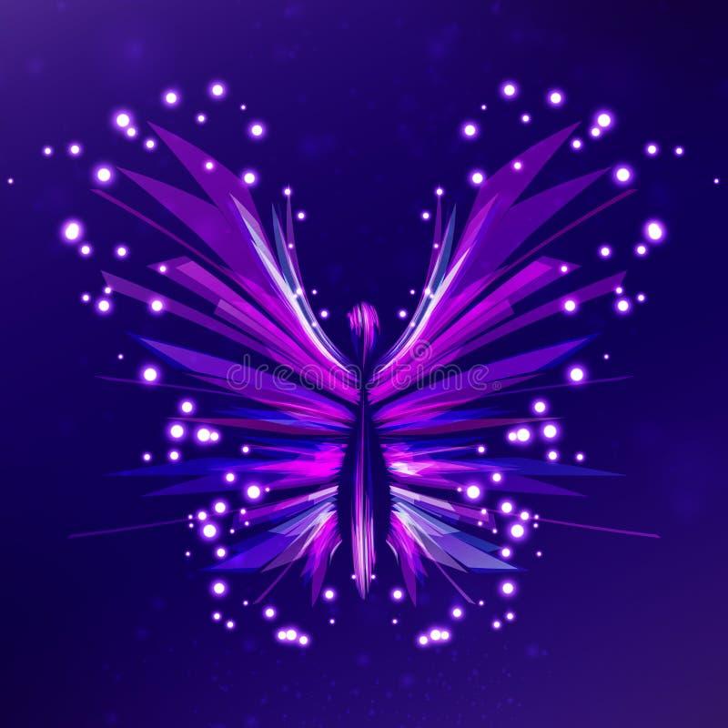 Estratto lucido della farfalla royalty illustrazione gratis