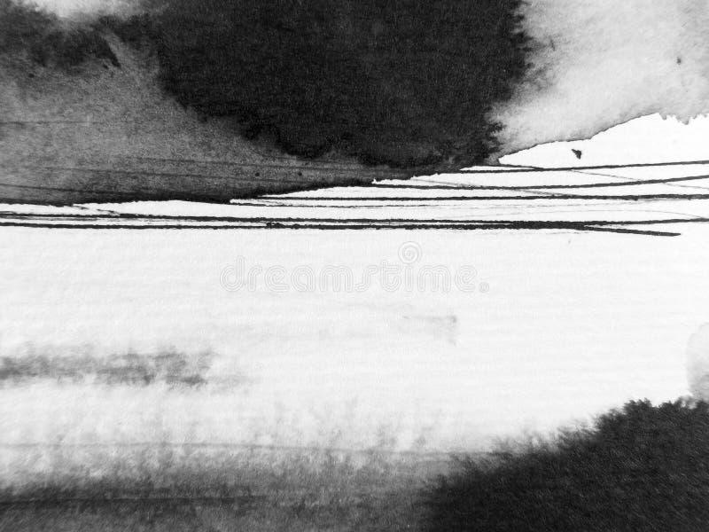 Estratto a macroistruzione 7 dell'inchiostro illustrazione vettoriale