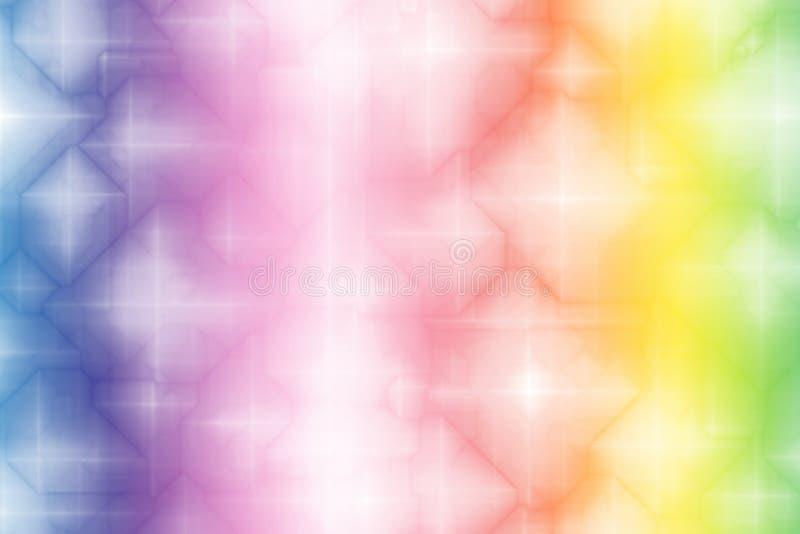 Estratto magico di fantasia del Rainbow di gradiente royalty illustrazione gratis