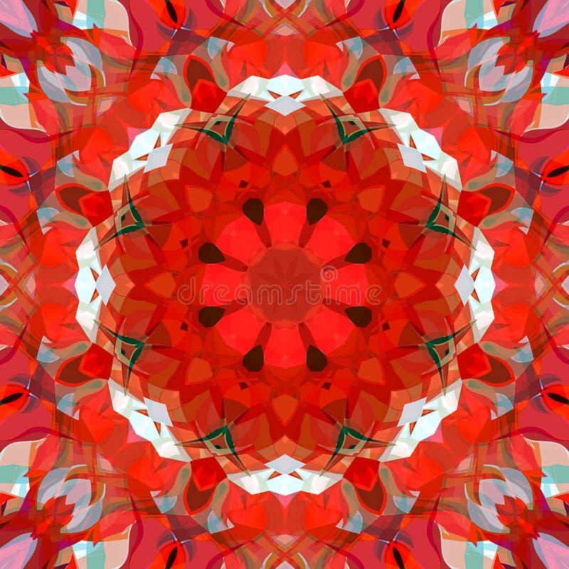 Estratto Mandala Background floreale variopinta della pittura di Digital immagine stock libera da diritti
