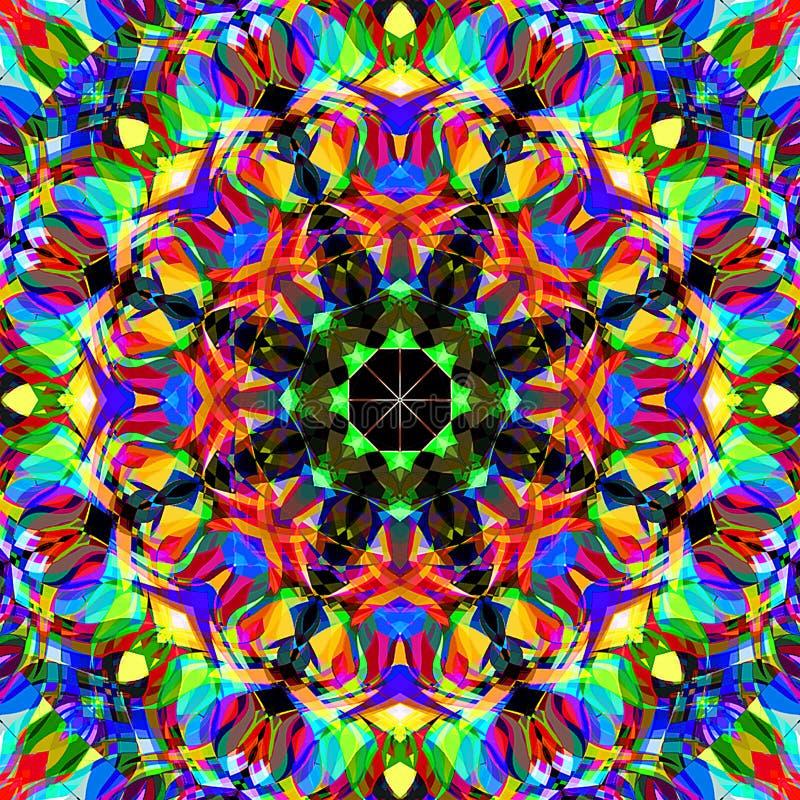 Estratto Mandala Background floreale variopinta della pittura di Digital fotografia stock libera da diritti