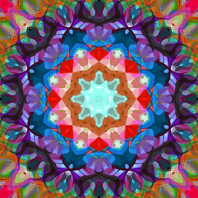 Estratto Mandala Background floreale variopinta della pittura di Digital royalty illustrazione gratis