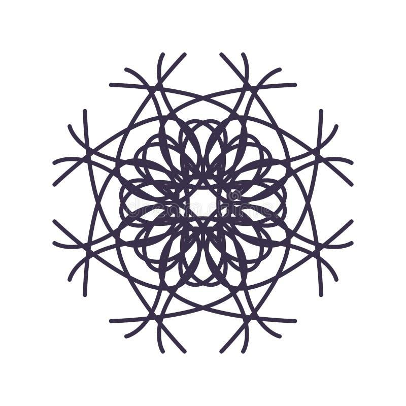 Estratto Mandala Geometry Outline per la decorazione o il tatuaggio royalty illustrazione gratis