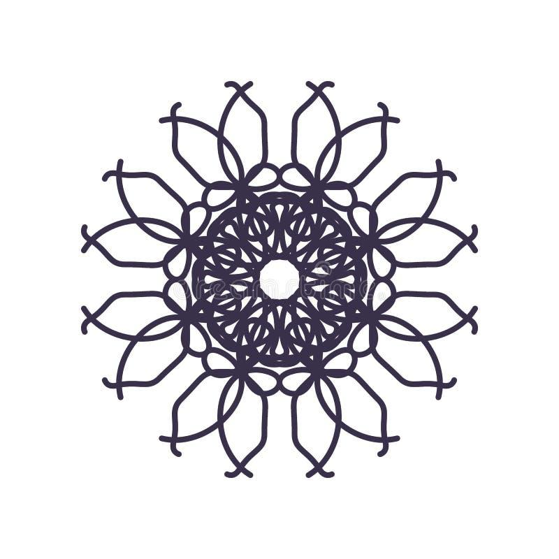Estratto Mandala Geometry Outline per la decorazione o il tatuaggio illustrazione di stock