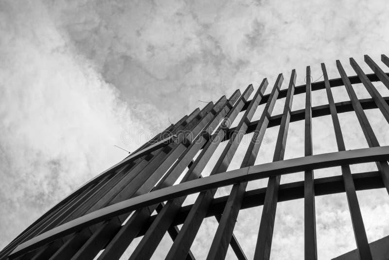 Estratto moderno di architettura, in bianco e nero fotografia stock