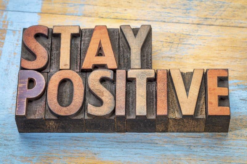 Estratto motivazionale positivo di parola di soggiorno immagine stock