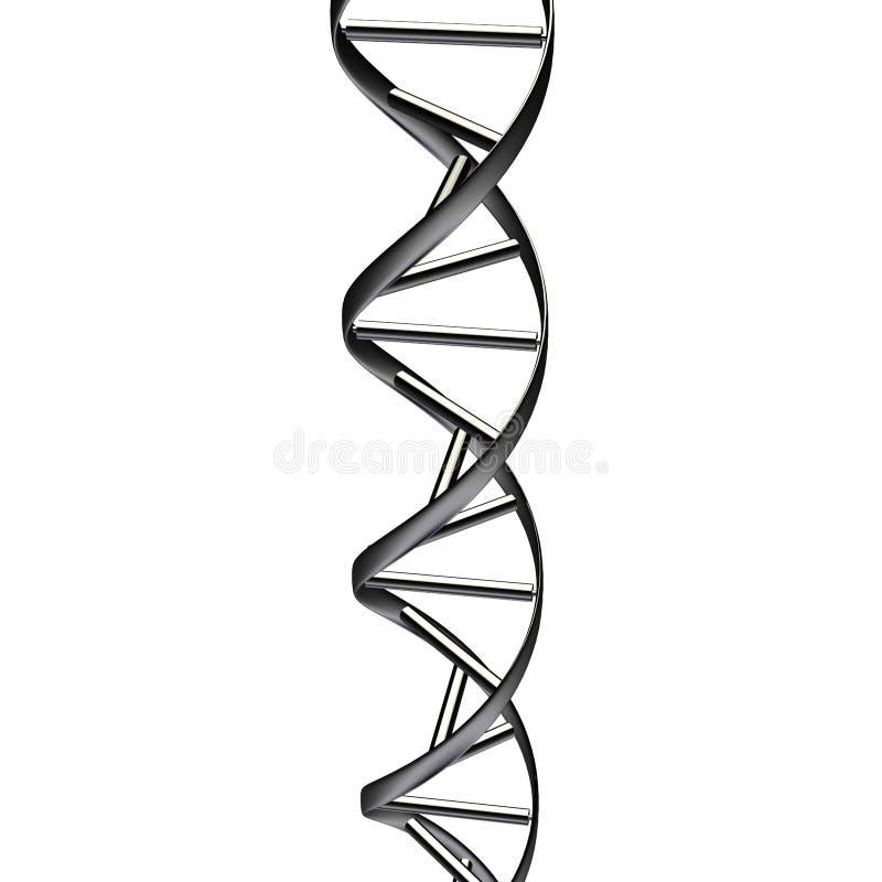 Estratto nero del DNA illustrazione di stock