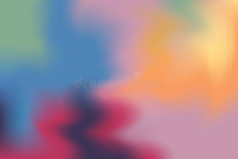 Estratto pastello di colore del fondo di arte mista morbida blu gialla verde rossa della pittura, carta da parati variopinta di a fotografia stock