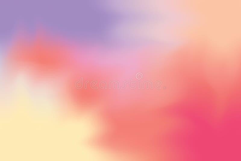 Estratto pastello di colore del fondo di arte mista morbida porpora rossa della pittura, carta da parati variopinta di arte illustrazione di stock