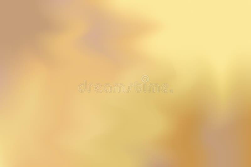 Estratto pastello di colore dell'oro giallo di Brown del fondo di arte mista morbida della pittura, carta da parati variopinta di illustrazione di stock