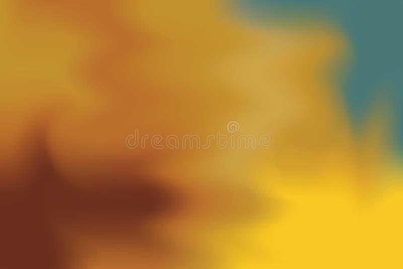 Estratto pastello di colore di marrone giallo del fondo di arte mista morbida della pittura, wallpape variopinto di arte illustrazione di stock