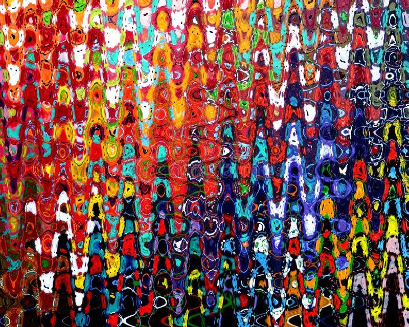 Estratto Pittura-acrilico sulla pittura della tela fotografia stock