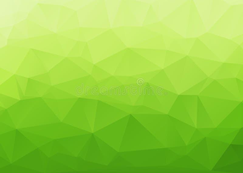 Estratto poligonale con il fondo verde di pendenza royalty illustrazione gratis