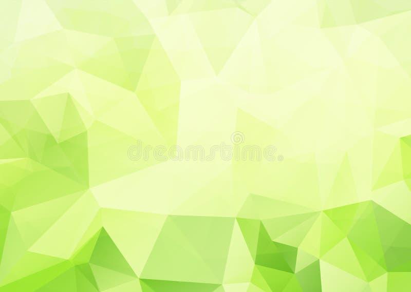 Estratto poligonale con il fondo verde di pendenza illustrazione vettoriale