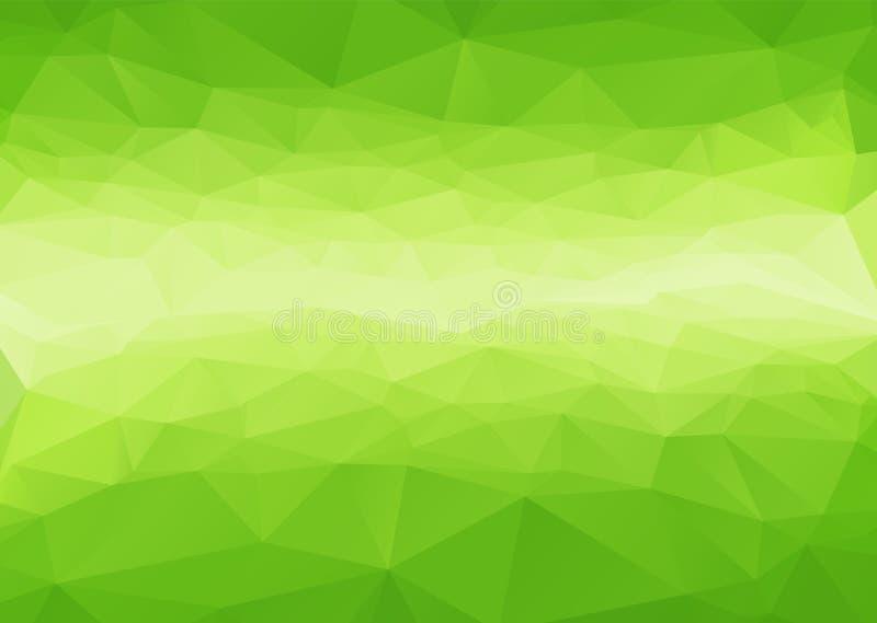 Estratto poligonale con la pendenza verde attraverso fondo illustrazione vettoriale
