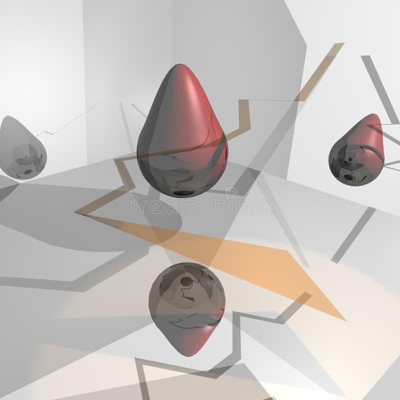 Download Estratto rosso illustrazione di stock. Illustrazione di dimensionale - 7324890