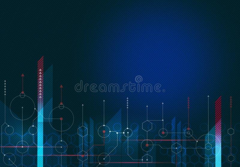 Estratto, scienza, futuristica, tecnologie energetiche Interfaccia grafica Illustrazione illustrazione vettoriale