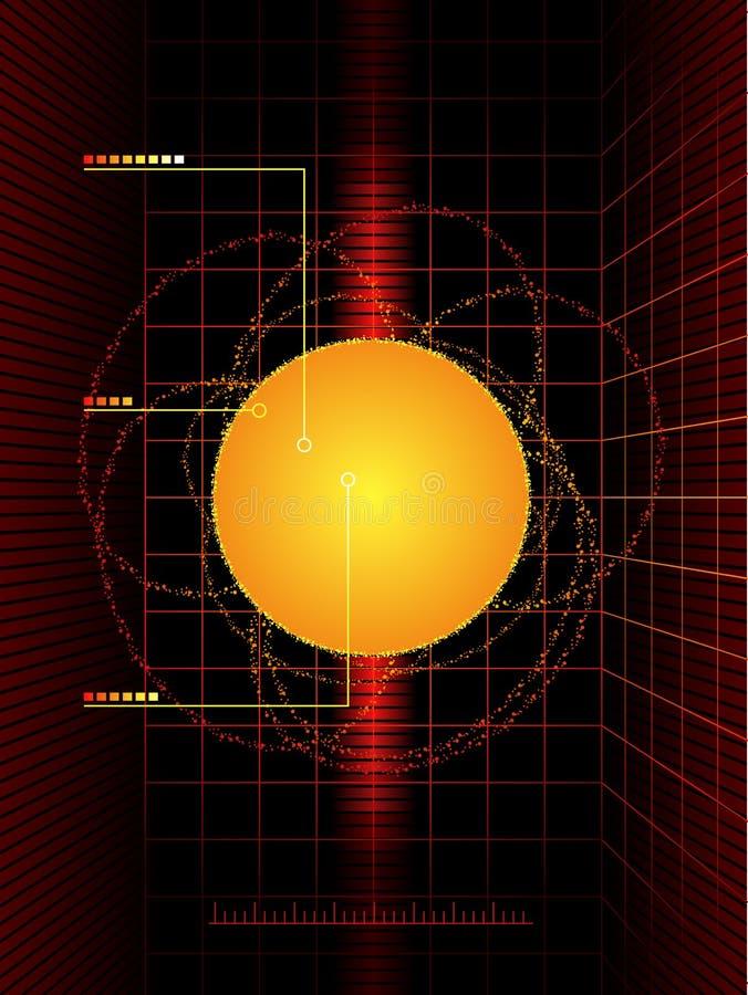 Estratto solare di scienza illustrazione di stock