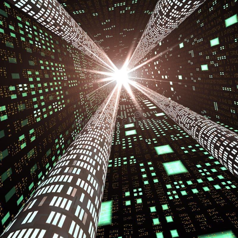 Estratto - strada principale di informazioni ad alta velocità immagini stock libere da diritti