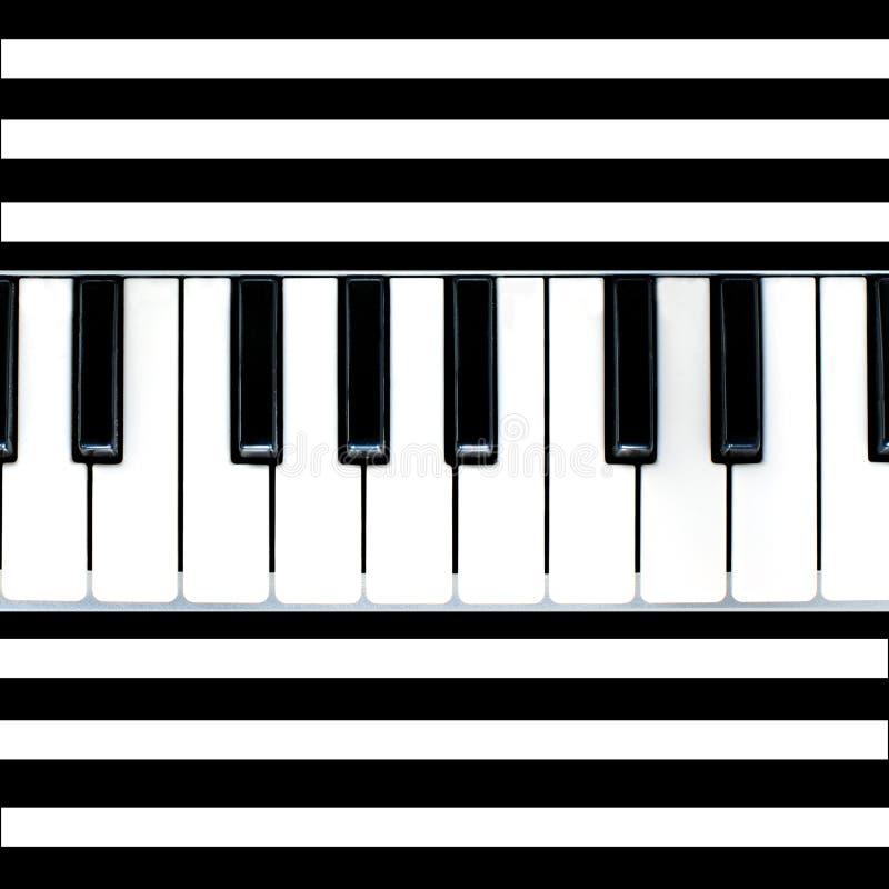 Estratto Stripy del piano illustrazione vettoriale