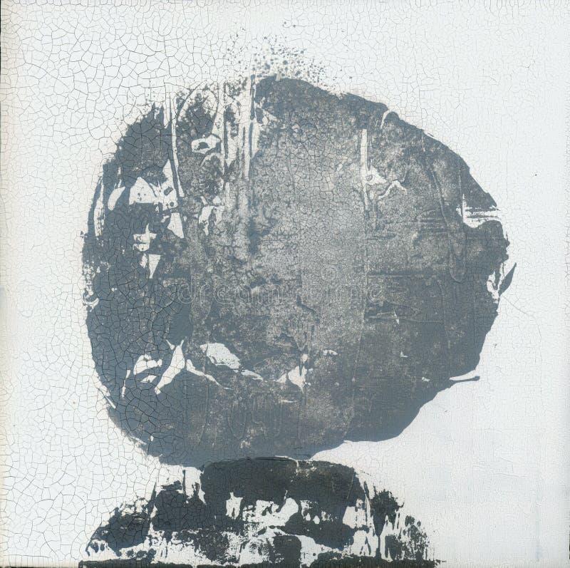 Estratto strutturale Zen Painting della pietra incrinata del cerchio fotografia stock
