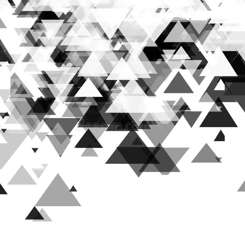 Estratto, tecnologia, fondo monocromatico futuristico con un modello dei triangoli Progettazione del modello per la proiezione di illustrazione vettoriale