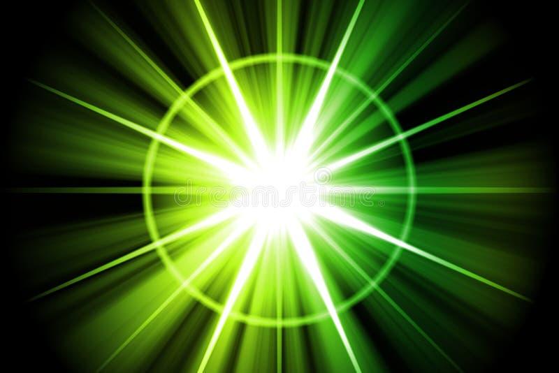 Estratto verde dello sprazzo di sole della stella royalty illustrazione gratis