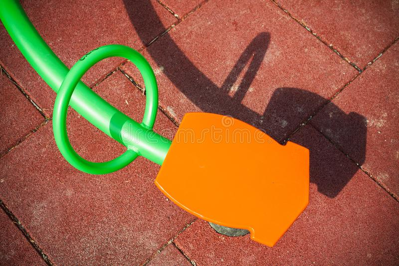 Estratto verde ed arancio della bascula fotografia stock