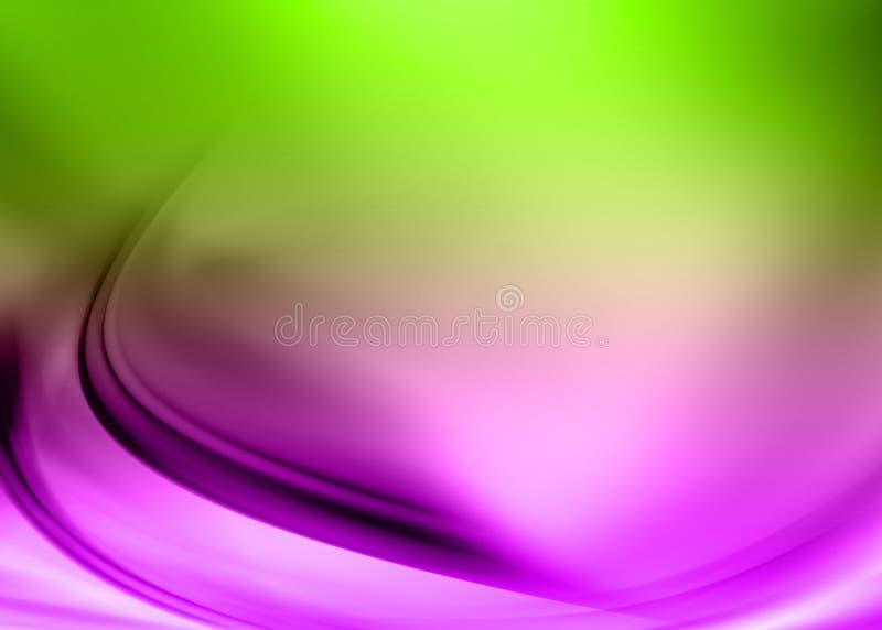 Estratto verde viola illustrazione di stock