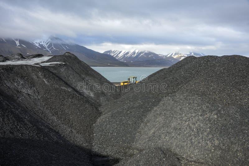 Estrazione del carbone delle Svalbard immagini stock libere da diritti