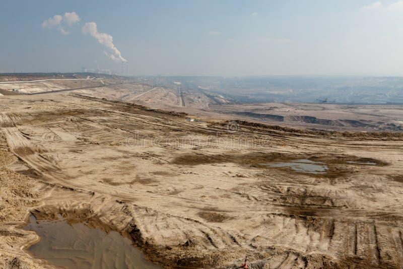 Estrazione del carbone di superficie immagine stock libera da diritti
