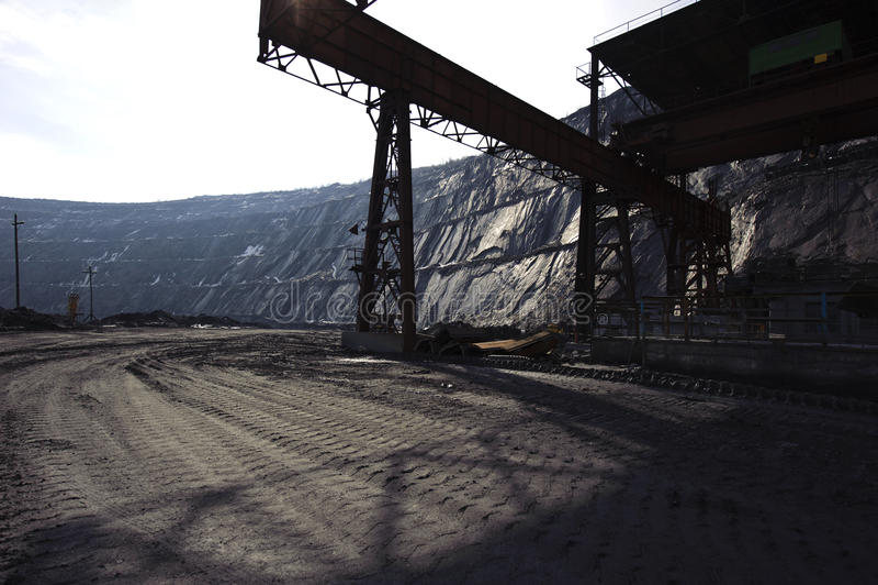 Estrazione del minerale ferroso immagini stock