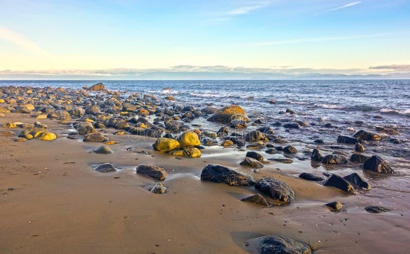 Estrecho rugoso de la costa costa de la isla de Vancouver de la playa de China de Juan De Fuca Pacific Northwest A.C. Canadá fotografía de archivo libre de regalías