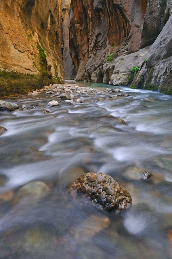 Estrechos del río de la Virgen foto de archivo libre de regalías