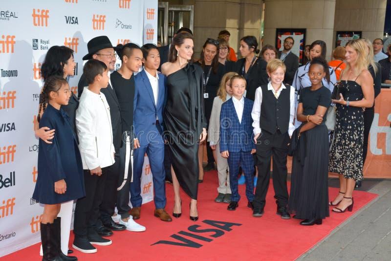 Estreia mundial do ` primeiramente mataram meu ` do pai com diretor Angelina Jolie no festival de cinema do International de Toro fotos de stock