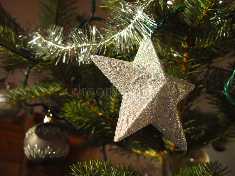 Estrela 2 do Natal fotos de stock