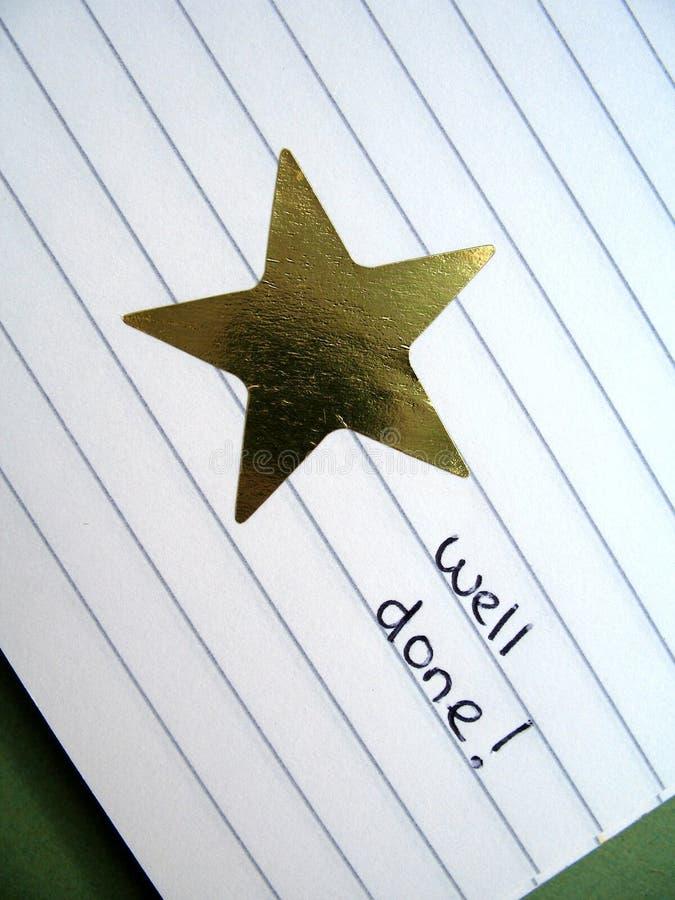 Estrela 2 do ouro foto de stock