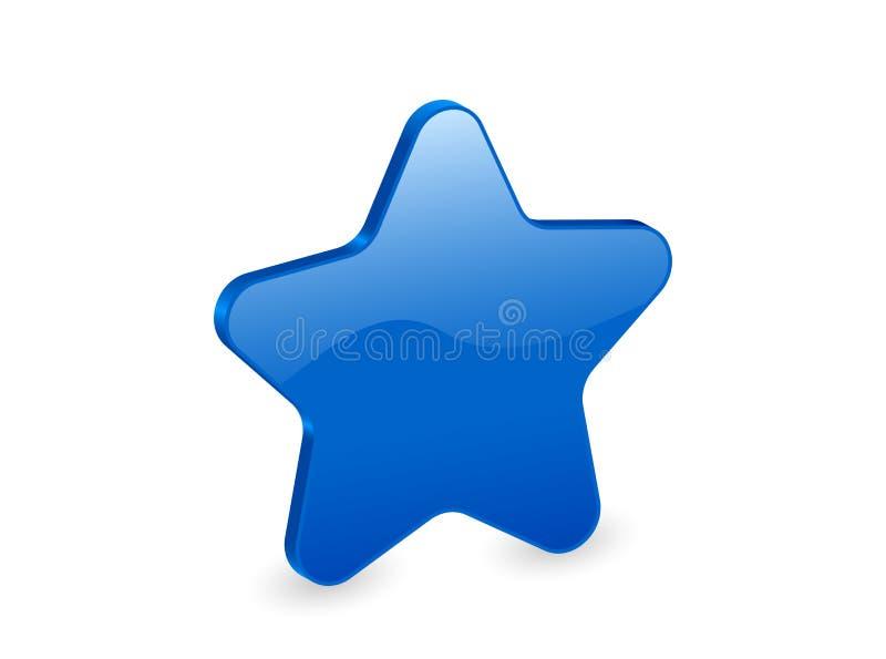 estrela 3d azul ilustração stock