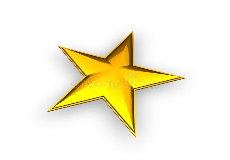 estrela 3d dourada ilustração do vetor