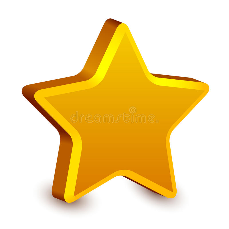 estrela 3d dourada ilustração stock