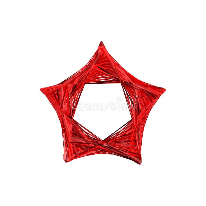 Estrela abstrata das linhas Isolado no fundo branco Vector o mal ilustração royalty free