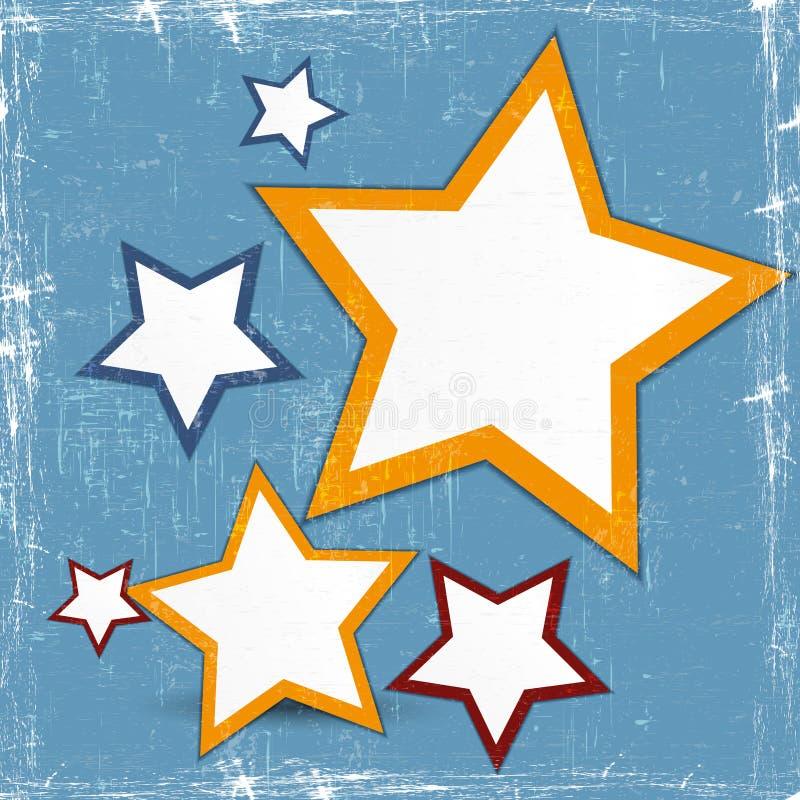 Estrela abstrata do projeto de Web ilustração royalty free