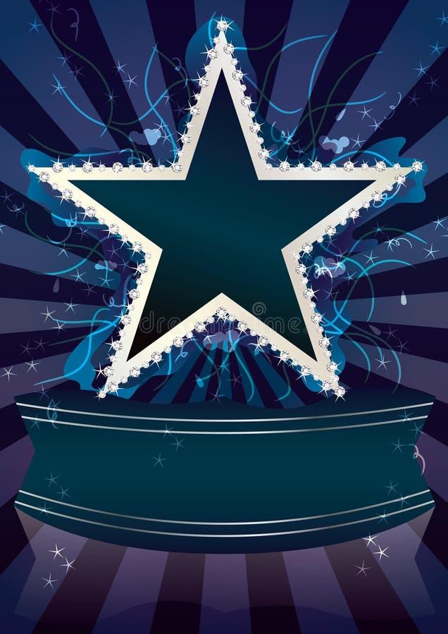 Estrela abstrata Fluid_eps do diamante ilustração stock